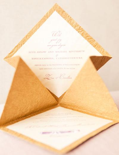 partecipazioni di nozze origami