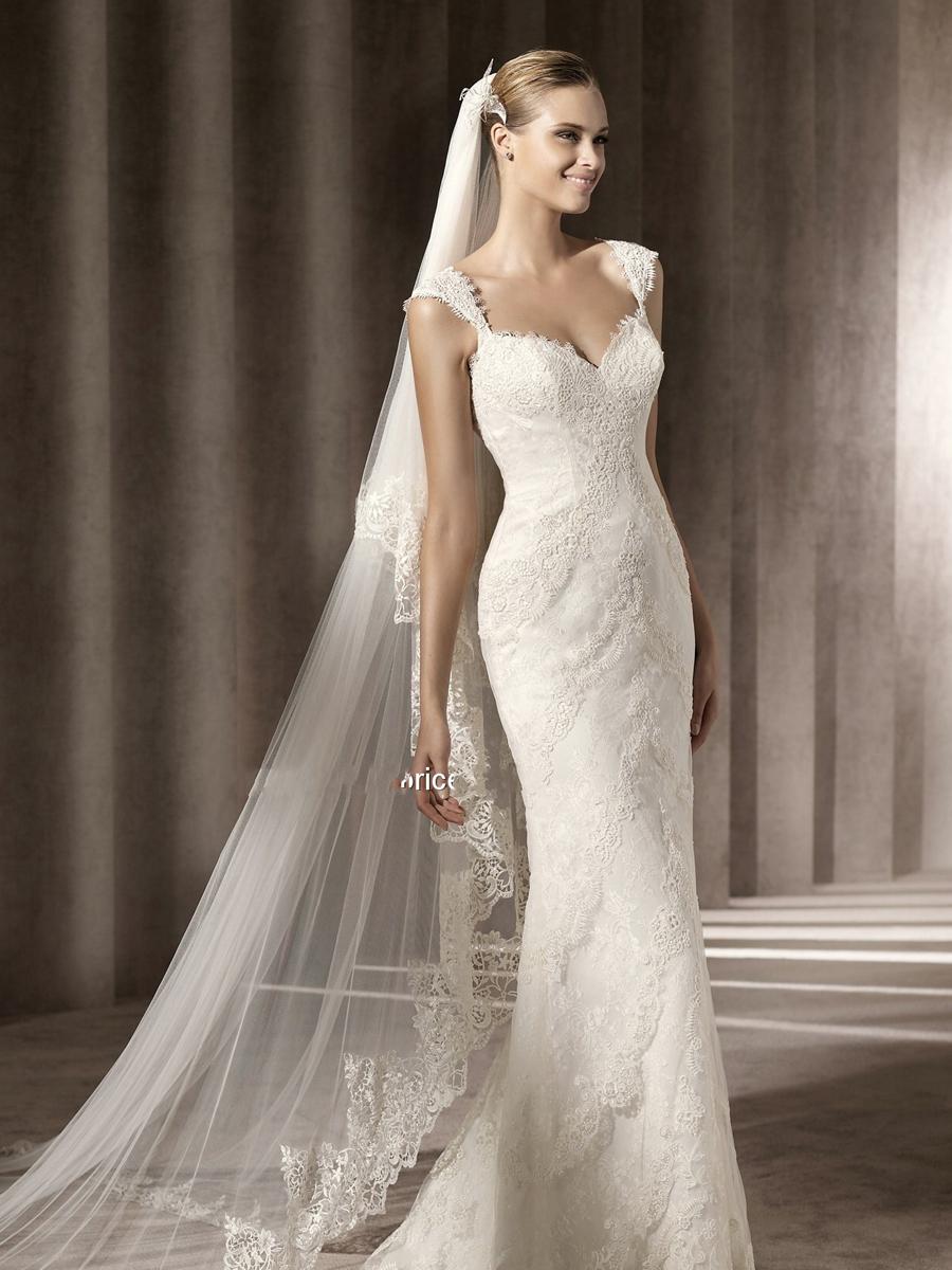Famoso Elegante abito da sposa in pizzo - Matrimonio Magazine FJ08